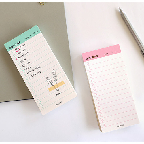 Manage series checklist notepad