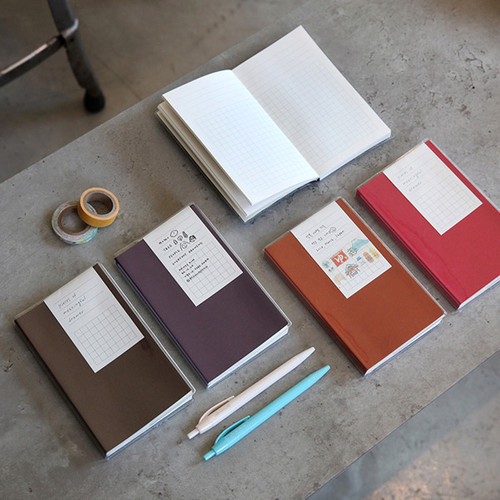 Free small gird notebook