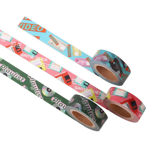 Vintage retro deco single masking tape
