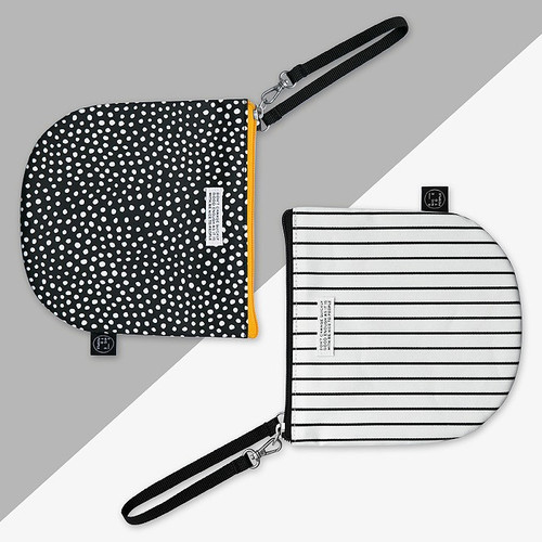 BNTP Semicircle medium zipper pouch with strap