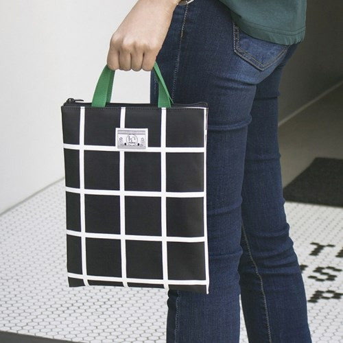 BNTP Coated cotton medium document tote bag
