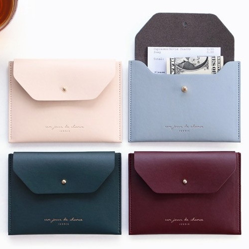 Un jour de chance pocket flat wallet