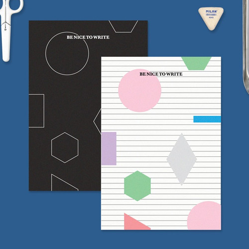 BNTP Be nice to write shape lined notebook