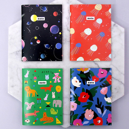 Pattern mini small lined notebook