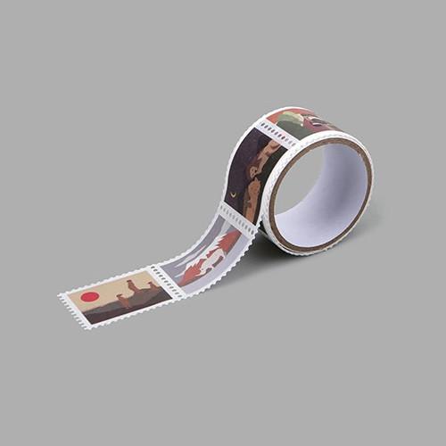 Safari deco single stamp masking tape
