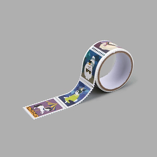 Wonderland deco single stamp masking tape