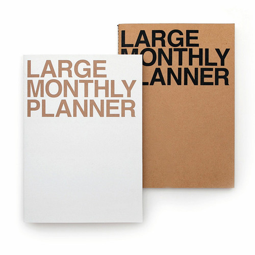 Large 16 months undated monthly planner scheduler