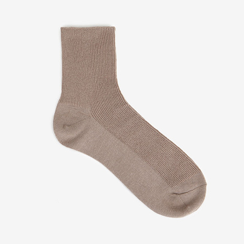 Dailylike Women easy daily socks - Dark beige