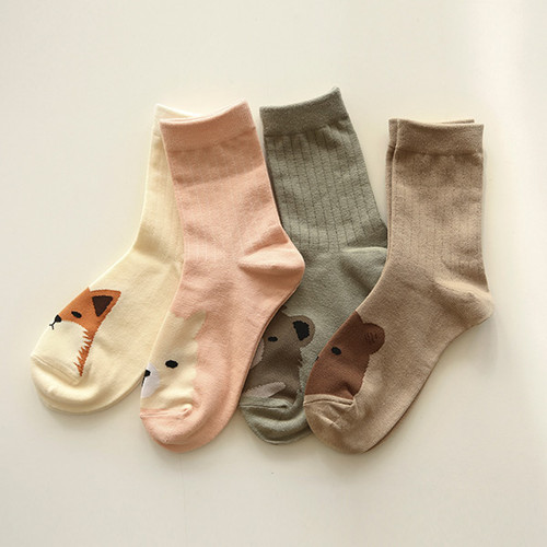 Dailylike Comfortable yours for life animal rib women socks