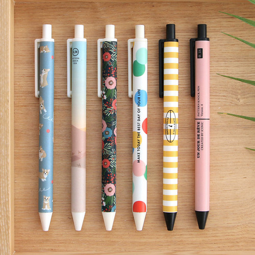 ICONIC Unique pattern knock retractable pen 0.38mm ver4