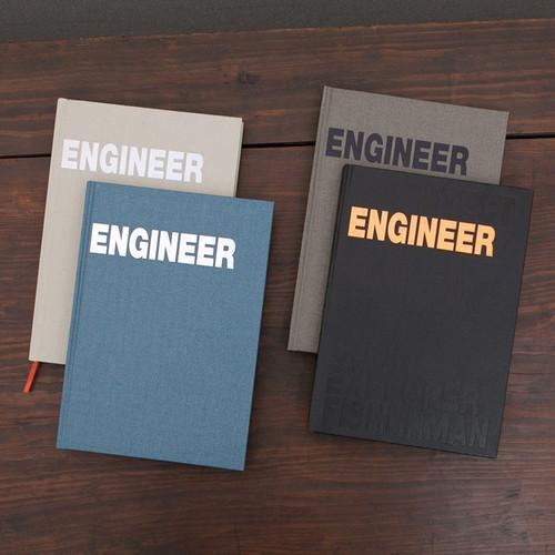 Engineer hardcover grid notebook