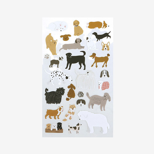 Dailylike For your heart paper adhesive sticker - Dog
