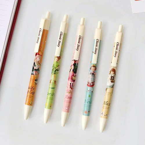 Classic story knock ballpoint pen 0.5mm black ink