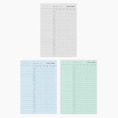 10 minutes daily plan memo notepad