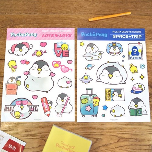 N.IVY Pochapeng multi big deco sticker