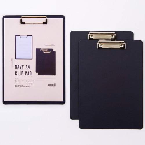 Ardium Navy A4 size clipboard with low profile clip