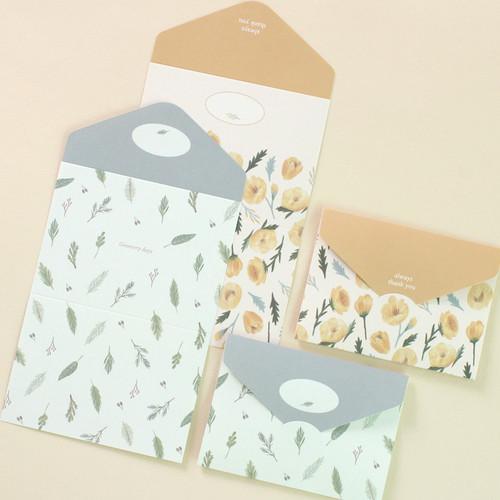 Always thank you illustration large folding letter set