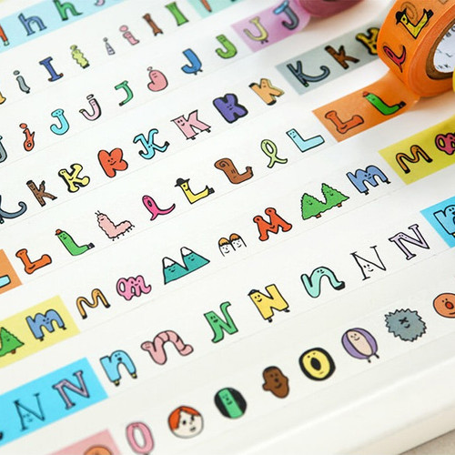 Livework Jam Jam alphabet A-N single deco masking tape