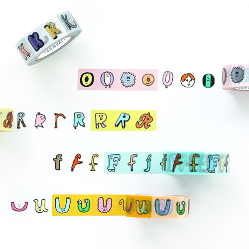 Livework Jam Jam alphabet O-Z single deco masking tape