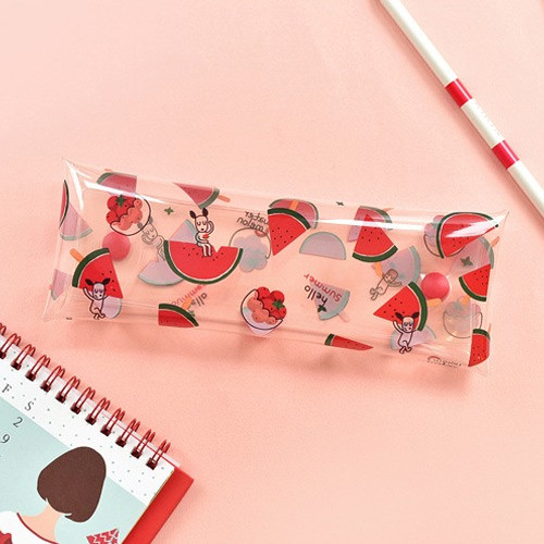 N.IVY Odong et valerie watermelon clear folding pencil case