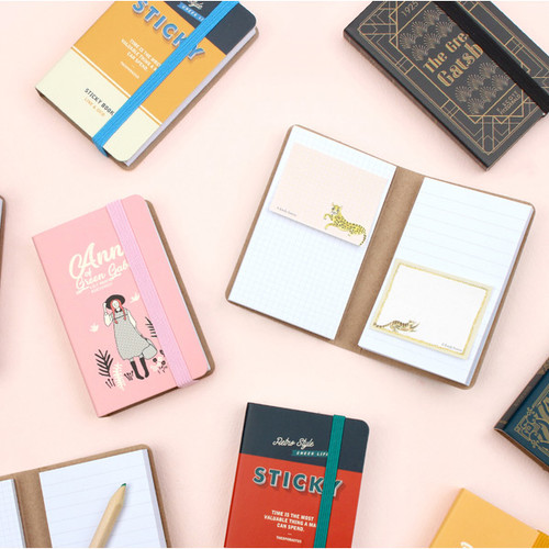 Bookfriends World literature illustration sticky notepad