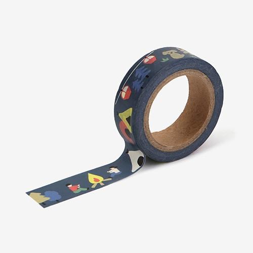 Dailylike Deco 0.59X11yd single masking tape - Camping