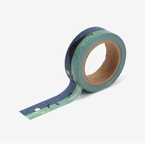 "Dailylike Deco 0.59""X11yd single masking tape - Night sea"
