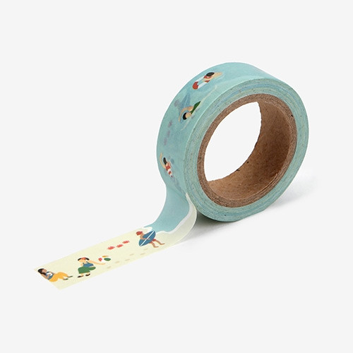 "Dailylike Deco 0.59""X11yd single masking tape - Vacation"