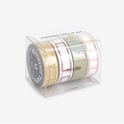 Dailylike Memo deco masking tape set of 4