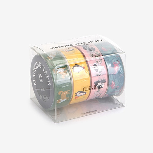 Dailylike Animal 2 deco masking tape set of 4