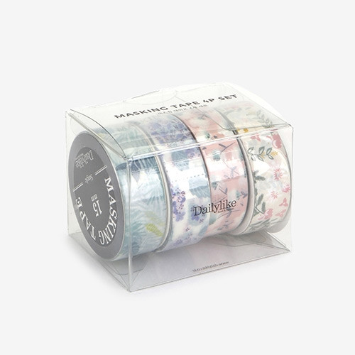Dailylike Flower deco masking tape set of 4