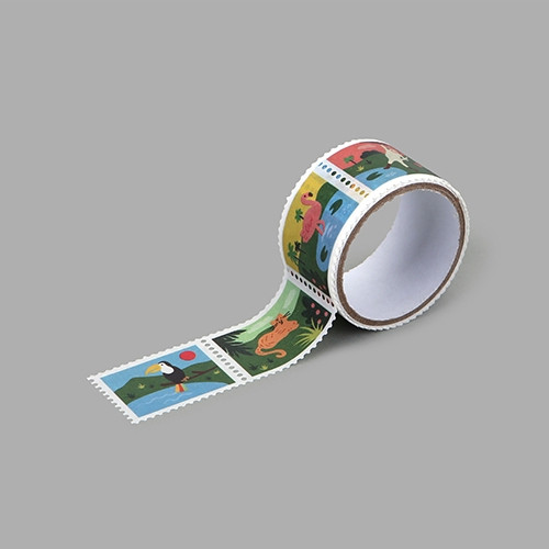 Dailylike Jungle deco single stamp masking tape