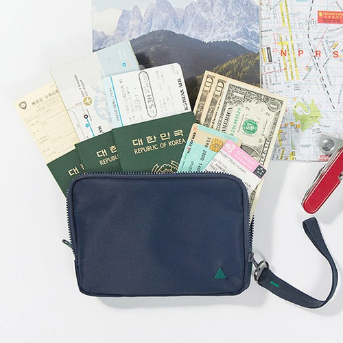 Antenna shop Family travel double passport pouch bag