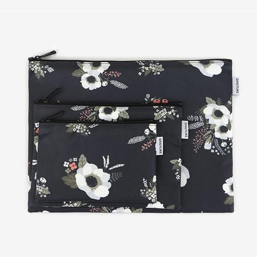 Dailylike Laminated cotton fabric zipper pouch - Evening bride