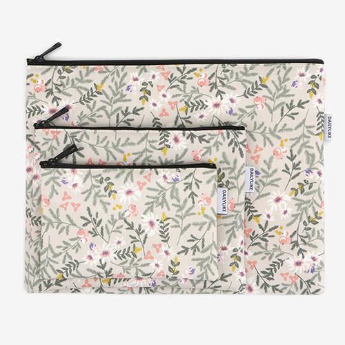 Dailylike Laminated cotton fabric zipper pouch - Kaya