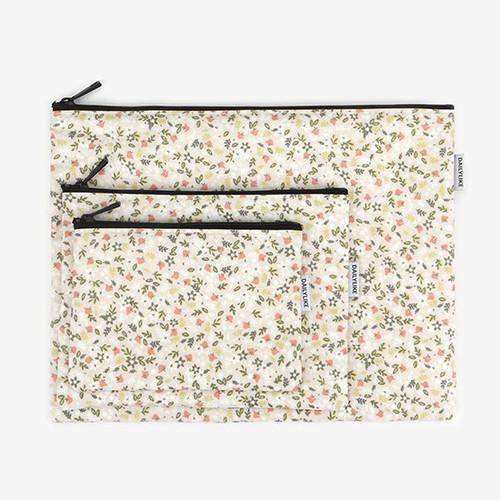 Dailylike Laminated cotton fabric zipper pouch - Citrus farm