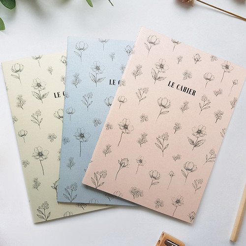 O-check Le cahier floral medium dot grid notebook