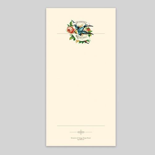 NACOO Have a good time mini bird plain notepad