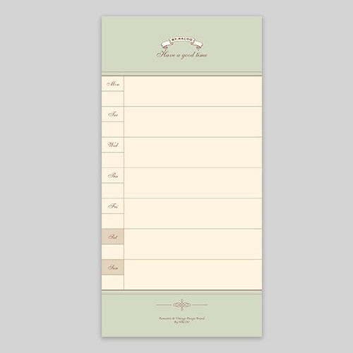 NACOO Have a good time weekly planner notepad