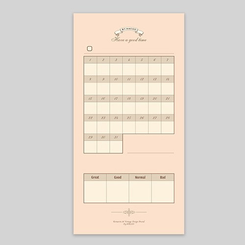 Have a good time checklist monthly planner notepad