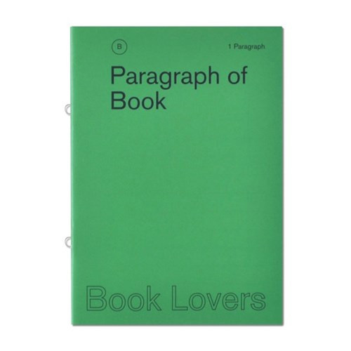 Book lovers 1 Paragraph A5 lined no