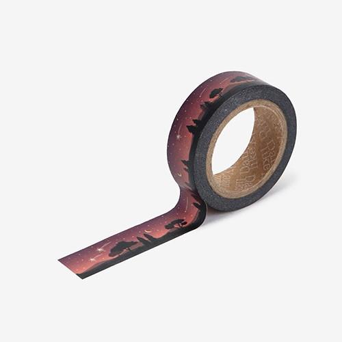 Shooting star single roll washi masking tape