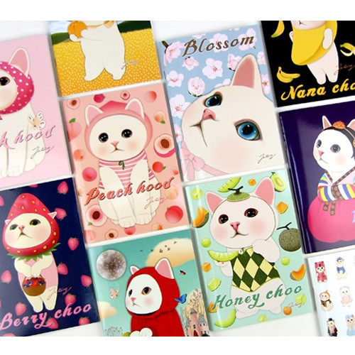 Choo Choo cat A5 ruled lined notebook ver2