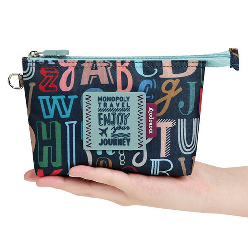 Enjoy journey travel small mesh zipper pouch