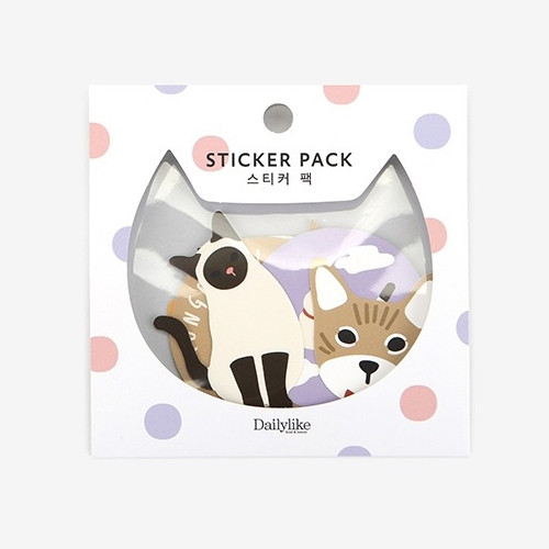 Dailylike Cat polypropylene film sticker set