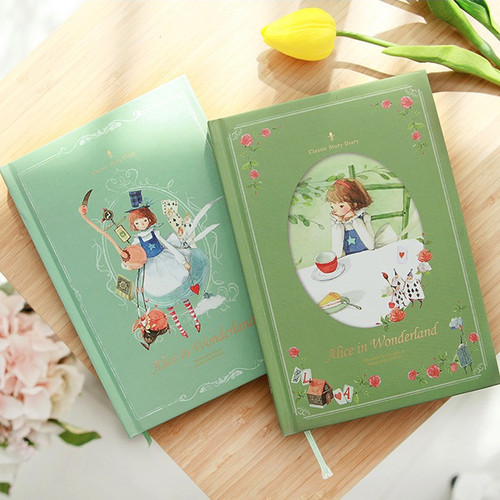 Indigo Alice in wonderland hardcover dateless daily diary planner