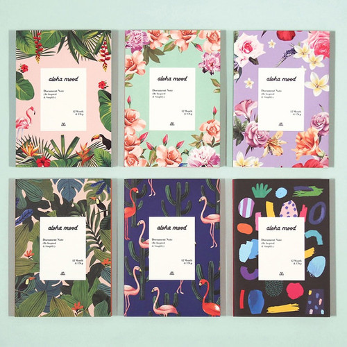 Aloha mood dateless weekly diary planner