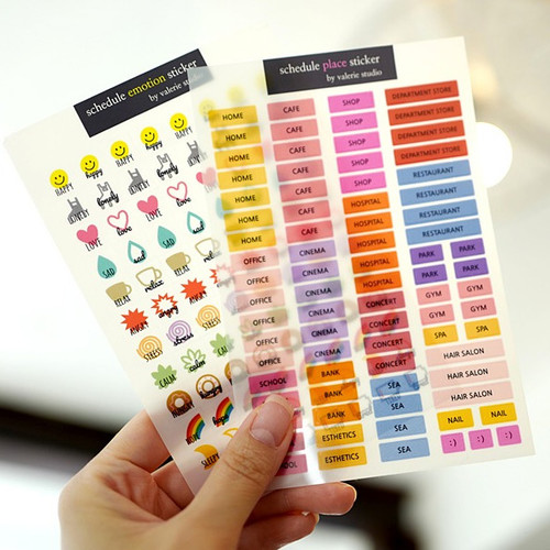 N.IVY Valerie studio schedule point text deco sticker set ver2