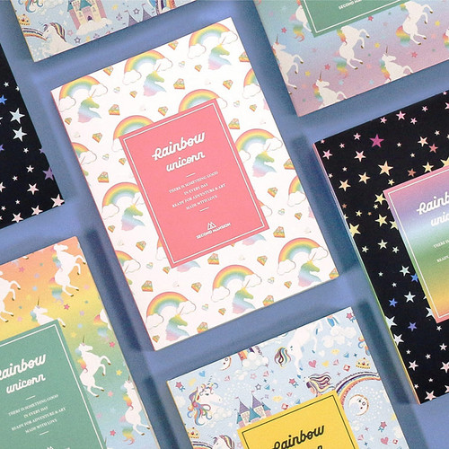 Rainbow dateless weekly diary planner