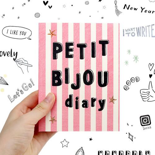 Monopoly Petit bijou undated daily agenda diary